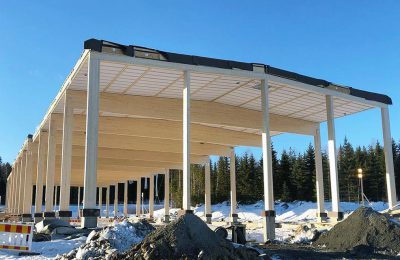 Pimara Oy:n rakennustyöt Kolmenkulmassa